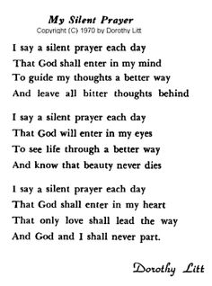 a grandmother's prayer | Dorothy Litt was my grandmother. She was an artist and poet. Here area ...