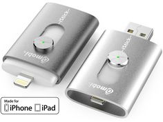 The World's first USB flash drive with integrated Apple Lightning connector. Made for iPhone  iPad.