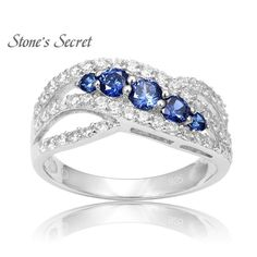 Classic Curved Design Fashion 925 Sterling Silver Tanzanite Engagement Rings Best-selling Rings for Women