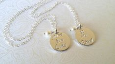 Youre the Lucy....to my Ethel... is what these Thai silver round smooth style disc charm is handstamped with. ..when we are blessed with a Lucy or