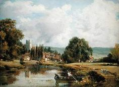 Learn more about Harnham Church, near Salisbury, 1820 John Constable - oil artwork, painted by one of the most celebrated masters in the history of art. John Constable Paintings, English Romantic, Most Famous Paintings, Salisbury, Favorite Words, Cubism, View Image, Impressionism, Painting & Drawing