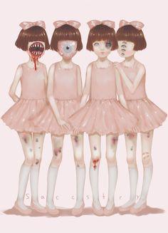 Creepy Ballerinas! I love it!