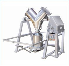 """Blenders - """"V"""" Shape Mixer Blender : Axial Screw Powder Extruder, Basket Extruder, Extruder and Spherodizer, Extrusion Spheronization, Spherodizer Industrial Mixers, Fluidized Bed, China Clay, Making Machine, Powder, Engineering, India, Shape, Easy"""
