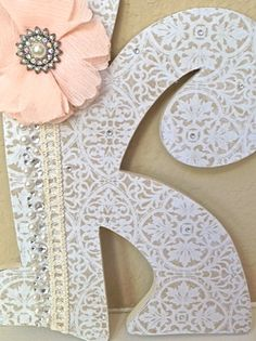 Custom Wooden Nursery Letters  Baby Girl Nursery by TheRuggedPearl, $16.75