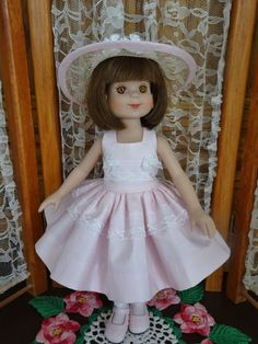 """Tiny Betsy McCall doll 8/"""" Robert Tonner White Romper With Pink Flowers"""