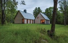 Good wood - a pair of beautiful bungalows in Southern Vermont by Minneapolis based architects HGA.