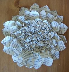 yet another book flower.