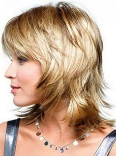 Short Shaggy Side Swept Hair