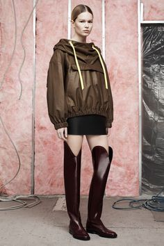 49a202a3b81f The over the head cagoule is continuing for 2014 with Alexander Wang  showing this one in