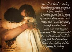 """Quote from the book, """"Outlander"""", picture from the TV production."""