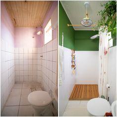 Aprenda a fazer um deck de madeira lindo e super prático para o seu banheiro. Chega de área do banho feia, com azulejo velho e aparecendo o ralo!