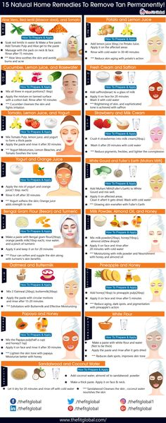 Here are 15 proven remedies for tan removal presented together in a single picture to help you regain your skin in no time! Here are 15 proven remedies for tan removal presented together in a single picture to help you regain your skin in no time! Tan Removal Home Remedies, Sun Tan Removal, Skin Care Remedies, Tan Removal Face Pack, Health Remedies, Pimples Remedies, Beauty Tips For Skin, Beauty Skin, Skin Care Tips