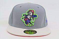 North Arkansas Travelers Gray Stone Green Infrared New Era 59Fifty Fitted Hat #NewEra #BaseballCap
