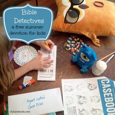 #Bible Detectives: a free printable summer devotion for kids from ThrivingFamily.com // a review from ohAmanda.com