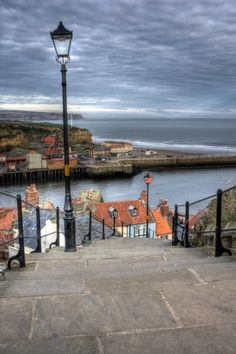 The long walk, Whitby, North Yorkshire, England