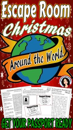 Learn about Christmas Around the World Escape Room style. #christmas #christmasaroundtheworld #escaperoom #escapeclassroom #classparty #holidayfun #holidayactivity
