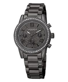 Look what I found on #zulily! Gunmetal Chronograph Watch With Swarovski® Crystals #zulilyfinds