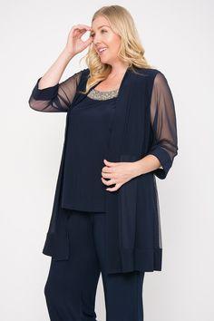 288bbd5fab1 R M Richards Long Formal Pants Suit Plus Size Dress Clothes For Women
