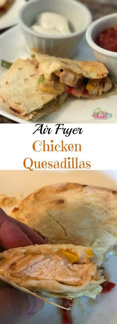 Today we are sharing an Air Fryer Chicken Quesadillas Recipe with you. It's easy to make and it is my husband's favorite. Today we are sharing an Air Fryer Chicken Quesadillas Recipe with you. It's easy to make and it is my husband's favorite. Air Frier Recipes, Air Fryer Oven Recipes, Air Fryer Recipes Chicken Wings, Air Fryer Recipes Grilled Cheese, Air Fryer Recipes Gluten Free, Air Fryer Recipes Potatoes, Convection Oven Recipes, Air Fryer Recipes Appetizers, Air Fryer Recipes Vegetables