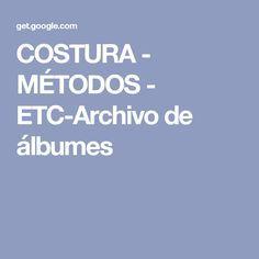 COSTURA - MÉTODOS - ETC-Archivo de álbumes