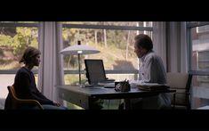 Dette er fra Thelma, vi skal starte filmen med at hovedrollen ser ut av vinduet så liker i scenen her at det er stor vinduer omkring de. Liker også litt den enkle sykehus feelingen man får fra rommet her.. Desk, Furniture, Home Decor, Desktop, Decoration Home, Room Decor, Table Desk, Home Furnishings, Office Desk