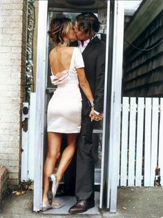 kisses. & amazing dress