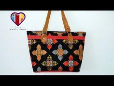 Bolsa em tecidos e couro Pansy - Maria Adna Ateliê - Cursos e aulas de bolsas em tecidos e couro - YouTube
