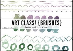 art class watercolor lines - photoshop brushes