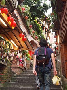 "Jiufen (Taipei, Taiwan). Apparently Miyazaki based the land in ""Spirited Away"" on Jiufen."