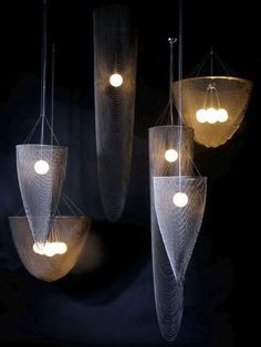 Traditional chandelier / metal EXTRA LONG POD WIlowlamp