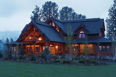 Log cabins have always drawn my attention. Used to dream of having one on a nice piece of property! :)
