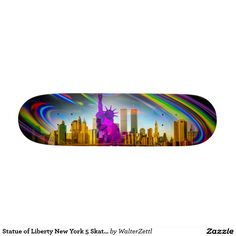 Statue of Liberty New York 5 Skateboard
