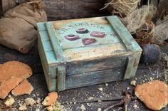 Декорирование деревянного ящика «Chocolatier». Лессировка. Часть 1 - Ярмарка Мастеров - ручная работа, handmade