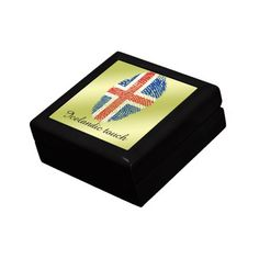 Shop Icelandic touch fingerprint flag jewelry box created by Personalize it with photos & text or purchase as is! Iceland Flag, Golden Oak, Color Tile, National Flag, Keepsake Boxes, Flags, Gift Tags, Jewelry Box, Touch
