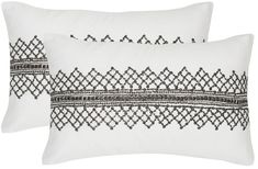 Street fashion makes its way home in the edgy design of the set of two Gossamer Metals accent pillows for transitional and contemporary rooms. Shown in gun