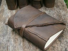 """Leather Journal / Pocketbook / Diary / 6""""X4"""" / FREE initials on Etsy, $17.00"""