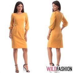 Poartă o rochie care îți evidențiază silueta.❤️ Îți va da un aer feminin și sexy, care întoarce privirile bărbaților... 💃✨🛒👇 High Neck Dress, Dresses For Work, Casual, Fashion, Turtleneck Dress, Moda, Fashion Styles, Fashion Illustrations, High Neckline Dress
