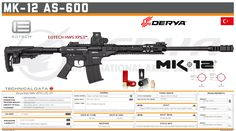 Derya Arms - MK-12 AS-600 Military Weapons, Weapons Guns, Shotguns, Firearms, Tactical Shotgun, Airsoft Gear, Future Weapons, Gun Art, Anime Weapons