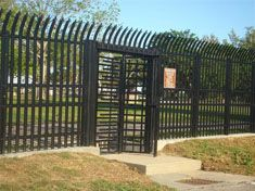 Hercules High Security offers security integration from guard booths to turnstiles to keep your facility safe. Security Fencing, Underground Bunker, New Property, Iron Work, Fence Gate, Survival Prepping, Property Management, Wrought Iron, Apocalypse