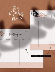 Planner Semanal Minimalista 2019 - Oh My Closet! To Do Planner, Agenda Planner, Project Planner, Goals Planner, Weekly Planner, Planner Ideas, Planner Journal, Personal Planners, Daily Planners