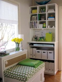 Benita Larsson (of Chez Larsson) is our hero when it comes to keeping an organized home that is still comfortable and beautiful