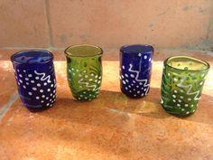 Glass Shotglass set by avigail Sapir Shot Glasses, Planter Pots, Instagram Posts, Art, Art Background, Kunst, Shot Glass, Performing Arts, Art Education Resources
