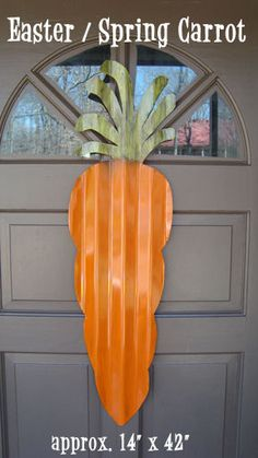 tin carrot door hanger