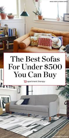 A sofa under $500? Yes, it is possible, and we found the best ones out there. #sofas #cheapsofas #livingroomsofa #couch #bestcouches #affordablecouches #livingroomfurniture #livingroomdecor #livingroomideas