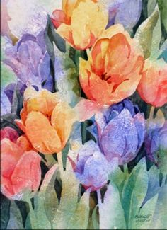 Watercolor Negative Painting, Watercolor Artists, Watercolor Landscape, Watercolor Print, Watercolor Illustration, Watercolor Flowers, Landscape Paintings, Rock Flowers, Watercolor Pictures