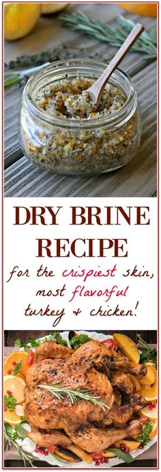 Brine Turkey You've got to try this dry brine recipe - it makes the most flavorful and crispy skin turkey and chicken!You've got to try this dry brine recipe - it makes the most flavorful and crispy skin turkey and chicken! Dry Brine Turkey, Roasted Turkey, Dry Rub For Turkey, Turkey Brining Recipe, Best Turkey Rub Recipe, Smoked Turkey Rub, Brining Meat, Turkey Marinade, Roast Turkey Recipes