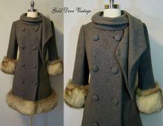 Lilli Ann Fox Fur Trim Coat