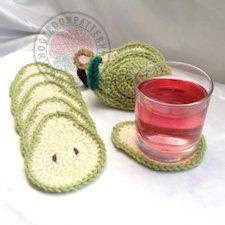 Pear Coasters Crochet Pattern