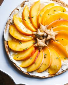 This peach tart is one of our favorite simple dessert recipes, a lighter take on the traditional heavy pie. Add it to your peach recipes for summer!