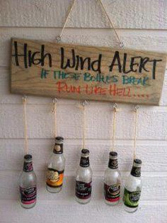 Recycled cans, shot gun shells, and pallets for the must have RedNeck wind chimes! Can also be ...